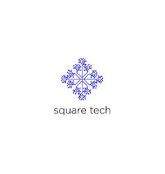 square technology logo design vector image