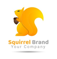 squirrel Volume Logo Colorful 3d Design Corporate vector image