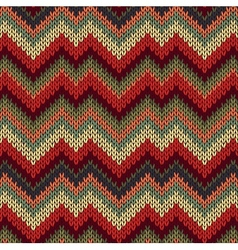 Style Seamless Knitted Pattern vector
