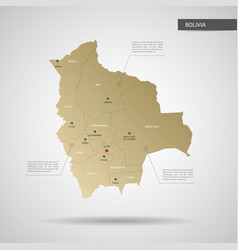 stylized bolivia map vector image