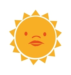 Sun funny cartoon graphic design vector image