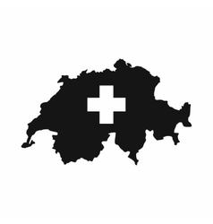 Switzerland map icon simple style vector image