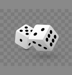 Transparent two dice vector