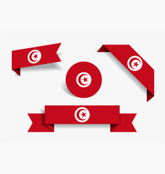 Tunisian flag stickers and labels vector