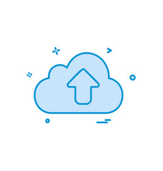 upload icon design vector image