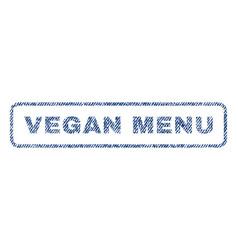 Vegan menu textile stamp vector