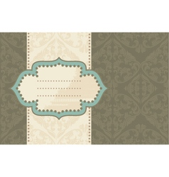 vintage document frame vector image