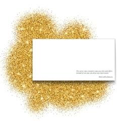 Gold glitter bright vector image