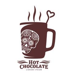 hot chocolate logo template vector image