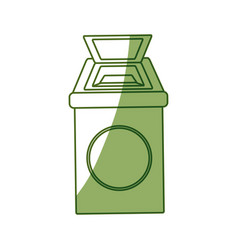 isolated ecologic trash can vector image