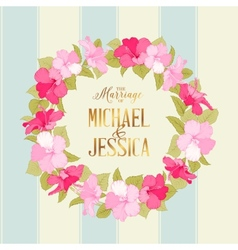Marriage wreath vector image