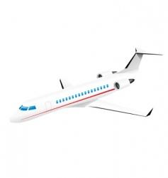 passenger jetplane vector image