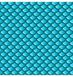 Seamless blue river fish scales vector