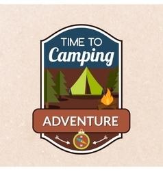 Summer Camping Emblem vector image vector image