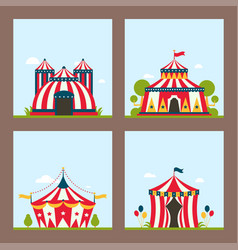 Circus show entertainment tent marquee marquee vector