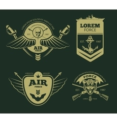 Color military patches vector image vector image
