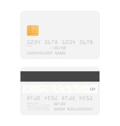 Realistic credit cards mockup vector image