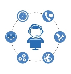 technical service and call center icon vector image vector image