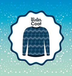 winter clothes design vector image vector image