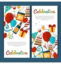 Celebration Banners Set vector image vector image