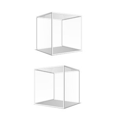Four transparent gray glass cubes eps10 vector image vector image