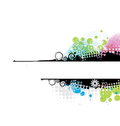 Grunge stylish banners vector image