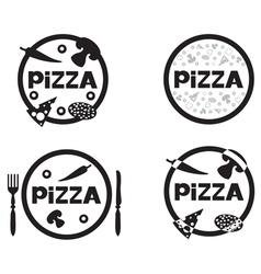 pizza logo set vector image vector image