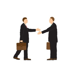Two businessmen Handshake Greeting Congratulation vector image vector image