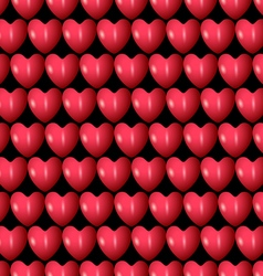3d red hearts seamless pattern vector image vector image