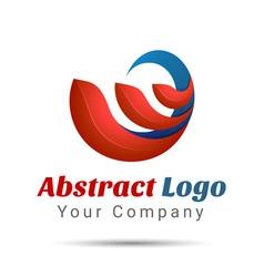 Abstract Logo Design Template Creative Concept vector image