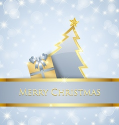 Christmas tree and gift decoration vector image