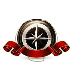 Compass Emblem vector image vector image