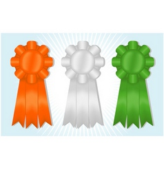 orange white and green ribbons vector image vector image