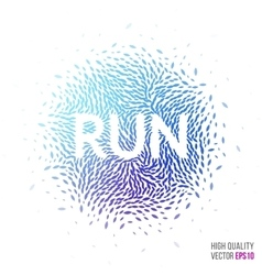 Run beautiful design element for greeting card vector image vector image