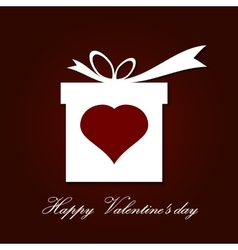 Valentine s day concept with gift box vector image