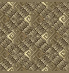 3d textured greek seamless pattern vector