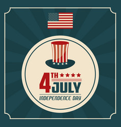 4th july independence day united stated of america vector