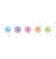 5 pouring icons vector