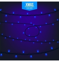 Abstract creative christmas garland light isolated vector