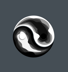 abstract yin yang symbol design vector image
