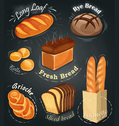 Advertising bakery on the chalkboard vector