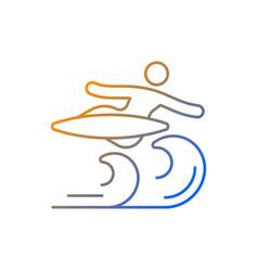 Air surfing technique gradient linear icon vector