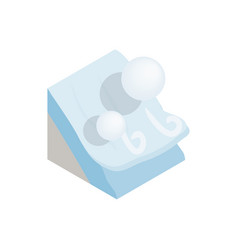 Avalanche icon isometric 3d style vector image