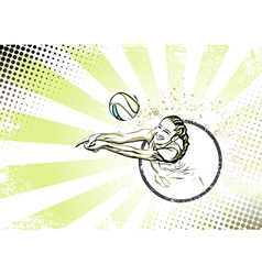 Beach volleyball poster vector