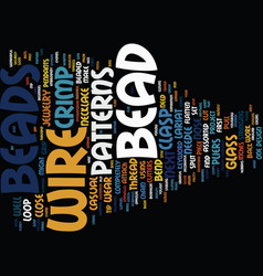 Bead shop text background word cloud concept vector