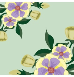 beautiful bright background with delicate flowers vector image
