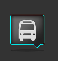 black neon bus icon vector image