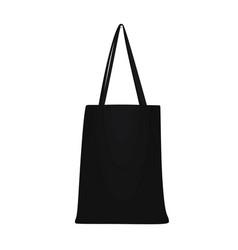 black shopping bag vector image