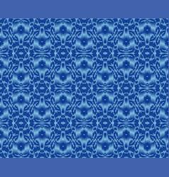 Bohemian patterned textile texture indigo dyed vector