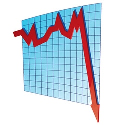 business graph vector image